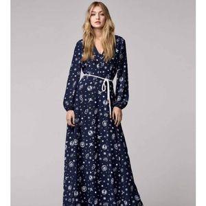 Tommy Hilfiger Gigi Hadid silk maxi dress size 2